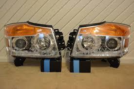 nissan titan fog lights 2004 2015 nissan armada titan headlight retrofits the retrofit