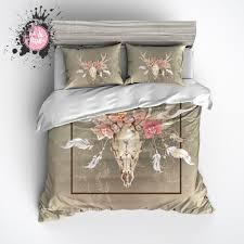 What S A Duvet Dreamcatcher Floral Buck Skull Bedding Pillow Cases Duvet And Duvet