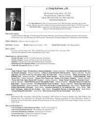 Sample Resume With Picture by J Craig Sullivan J D