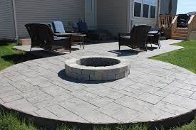 Slate Firepit Ashlar Slate Patio With Firepit Bud S Concrete Inc
