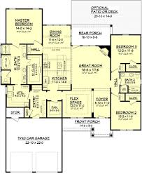 Open Ranch Floor Plans Split Bedroom Plans Elegant Ranch Floor Gallery With Pictures