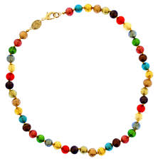 multi coloured necklace images Murano multi coloured glass necklace national portrait gallery jpg