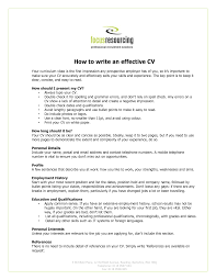 How To Write A Resume For A Job With Experience by Fresh Idea How To Write An Effective Resume 15 How Write Effective