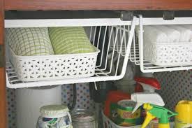 Under The Kitchen Sink Organization by The 15 Smartest Storage Hacks For Under Your Sink Hometalk