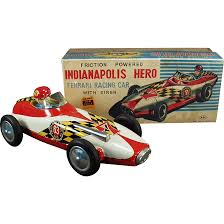 toy ferrari vintage ferrari race car toy with original box indianapolis hero