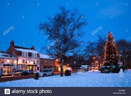 the christmas tree on the green at great ayton north yorkshire