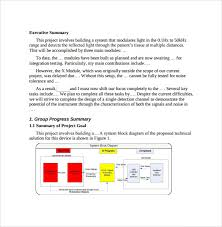 summary report template 8 free samples examples format