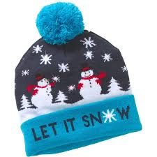 beanie with led lights snowman beanie hat w led lights walmart com