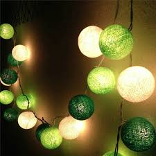 20pcs lot led cotton string light thai style green white