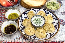most cuisines manti or mantu are dumplings popular in most cuisines stock