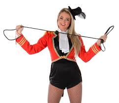 Lion Tamer Halloween Costume Carnival Ringmaster Ladies Fancy Dress Circus Lion Tamer Womens