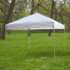 Ez Up Canopy Academy by White 10 Ft X 10 Ft Outdoor Canopy Tent Gazebo With Steel Frame