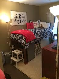 Seventeen Zebra Darling Bedroom Set Great Dorm Room Organization Step Stool To Get On The Elevated