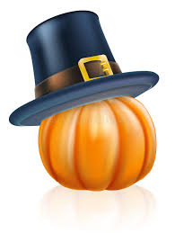 thanksgiving pilgrim hat pumpkin stock vector image 50773401