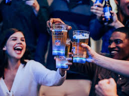 bud light touchdown glass app bud light s touchdown glass lights up when your team scores food