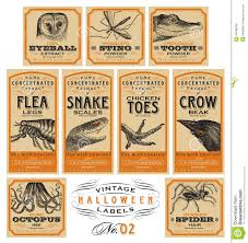 halloween lables funny vintage halloween apothecary labels set 02 vector stock