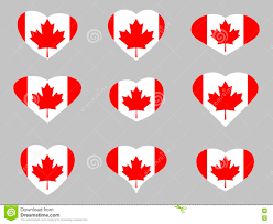 Flag Of Canada Hearts With The Flag Of Canada I Love The Canada Canada Flag