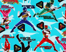 power rangers wrapping paper power rangers fabric etsy