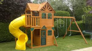 interesting outdoor playground design with backyard playsets and
