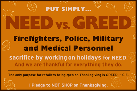 military thanksgiving who started this battle to stop shopping on thanksgiving pr com