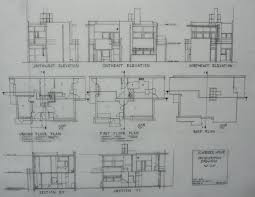 schroder house floor plan house decor