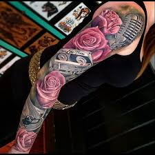 sleeve tattoos on pinterest rose sleeve rose tattoos and