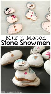 mix n match stone snowmen in the playroom