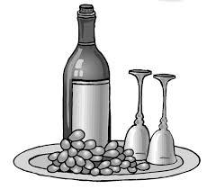 disegni bicchieri disegni la filiera dei prodotti alimentari con etichetta uva