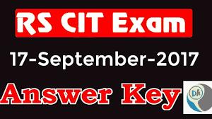 rscit exam answer key 17 september 2017 rscit exam ans key rscit