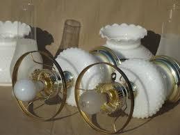 Hobnail Milk Glass Chandelier Hobnail Milk Glass Student Lamps W Chimney Lamp Hurricane Shades