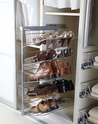 Home Interior Wardrobe Design by Stainless Steel Sliding Shoe Rack For Small And Narrow Wardrobe