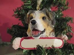 australian shepherd christmas holiday ornament u2022 16 95 picclick