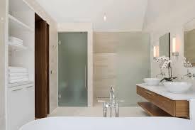 Gray And Tan Bathroom - diy bathroom storage white porcelain pedestal washbasin stony wall