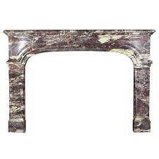 18th century marble antique fireplace mantel in royal breche