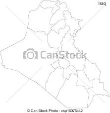 iraq map vector contour iraq map map of administrative divisions of iraq eps