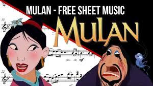 free sheet music cello mulan u0027ll man