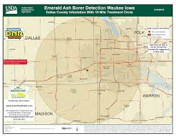 Dallas County Map by Emerald Ash Borer Confirmed In Dallas County Iowa Iowa State