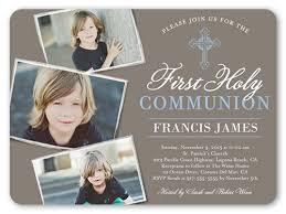 communion invitations boy communion cross boy 6x8 communion invitations shutterfly