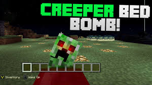 Minecraft How To Make A Bed Minecraft How To Make A Creeper Bed Bomb Trap Troll Trap