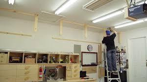 garage lumber rack easy cheap diy project youtube loversiq