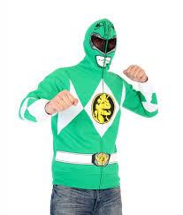 power rangers green ranger zip costume hoodie
