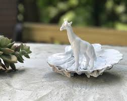 vintage giraffe ring holder images Seashell ring holder etsy jpg
