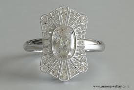 cushion cut diamond art deco vintage ring new zealand