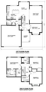 story bedroom house floor plans five designs two storykerala