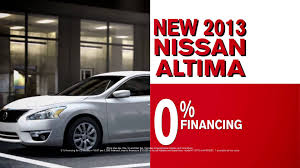nissan altima zero percent financing woodfield nissan the deal youtube