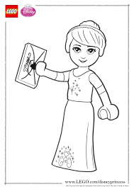 cinderella got a letter coloring page activities disney