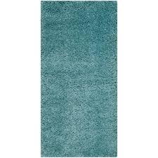 Ebay Area Rugs Safavieh Power Loomed Aqua Blue Plush Shag Area Rugs Sg180 6060