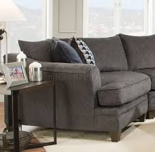 Albany Sectional Sofa Sectional Sofa 53835 In Grey Fabric By Acme W Options
