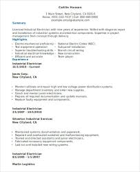 Examples Of Electrician Resumes by 10 Electrician Resume Templates Free Sample Example Format