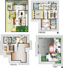 100 bungalow plans india details duplex house plan west